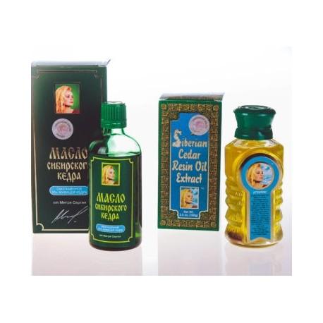 Zlata zbirka olja iz oreščkov sibirske cedre