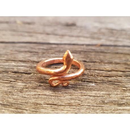 Posvečen bakren kačji prstan (Velikost M)