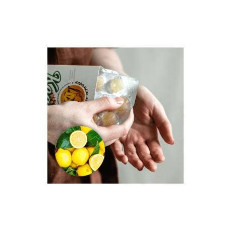 Kedra bomboni za odkašljevanje-Limona