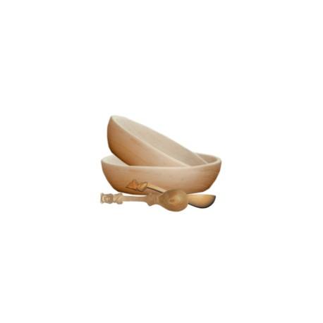 Leseni namizni pribor-SET